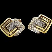Kurt Wayne Diamond and 18kt Gold Cufflinks