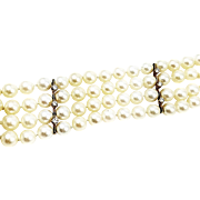 Kurt Wayne 18kt Yellow Gold 4 Row Pearl Bracelet