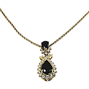 18kt Yellow Gold Kurt Wayne Emerald, Sapphire and Diamond Pendant
