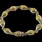 18kt Yellow Gold and Diamond Barrel Bracelet by Kurt Wayne