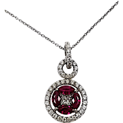 18kt White Gold Ruby and Diamond Kurt Wayne pendant