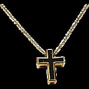 18kt Yellow Gold Kurt Wayne Ruby Cross Pendant