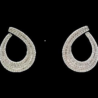 18kt White Gold Teardrop Diamond Earrings