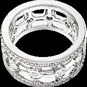 18kt White Gold Diamond Ladder Ring