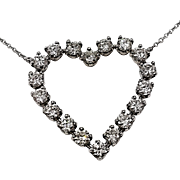 Tiffany Diamond Heart Pendant