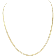 """14k Solid Yellow Gold 30"""" Cuban Curb 2mm Link Chain Necklace 11.7g"""