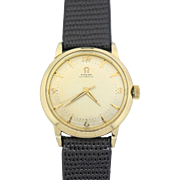 1950s Vintage Omega Bumper Automatic Gold Filled 34mm Dress Watch