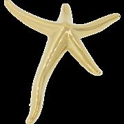 Vintage Tiffany & Co Elsa Peretti Spain 18k Solid Yellow Gold Large Starfish Brooch Pin