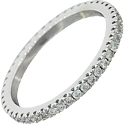 14k White Gold .52ctw Diamond Shared Prong Eternity Band Ring