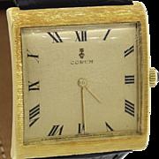 Vintage Corum Buckingham Solid 18k Yellow Gold 35mm Manual Wind Swiss Watch