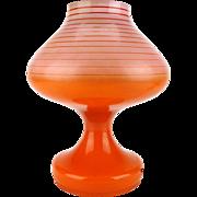 Vintage orange glass table lamp, Vintage lighting, Bohemian lamp, Mid century, Spage age, Tulip table lamp, Retro lighting, Vintage decor