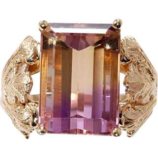Ametrine 14 karat yellow gold Joi De Vivre ring