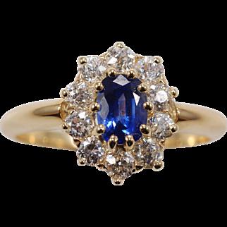 Ceylon Sapphire Diamond Ring