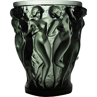 Grey Bacchantes Vase by Lalique - Limited Edition - numbered 06