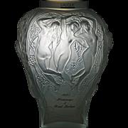 Lalique Vase - Hommage à Rene Lalique 1995 - Limited Edition 132/999