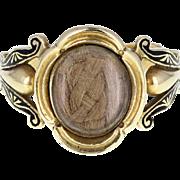 Antique Georgian Locket-Style 18ct Gold Mourning Ring