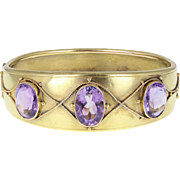 Antique Victorian Amethyst 15ct Gold Bangle