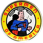 Supermen Of America club celluloid pinback from 1948
