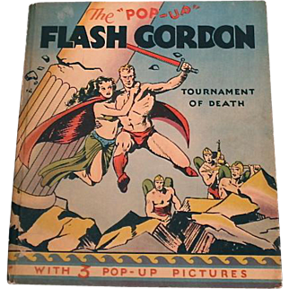 "The ""Pop-Up"" Flash Gordon Tournament of Death, Alex Raymond, Pleasure Books, Inc. 1935"