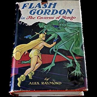 Flash Gordon in The Caverns of Mongo, Alex Raymond, First Edition, Original Dust Jacket, 1936