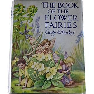 The Book of the Flower Fairies, Cicely M. Barker, 1940's War Time edition, Original Dust Jacket