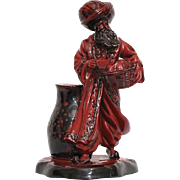 "Royal Doulton Flambe ""The Lamp seller""."