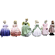 Royal Doulton 6 miniature porcelain figurines