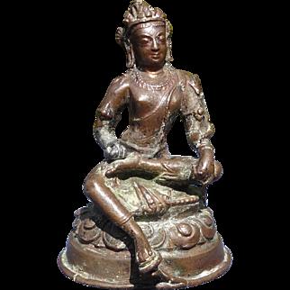 Tibet Bronze Avalokiteshvara 14th - 16th Century