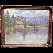 Superior and Beautiful Impressionist California or Washington Mountain Landscape 1900-20