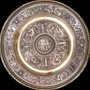 Spectacular Renaissance Style Elkington Venus Rosewater Centerpiece Charger - Tempe Rantia - 19th Century