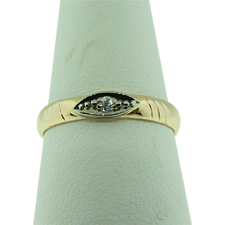 Russian made rose gold band. 1960's. 14K.
