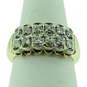 1930's diamond wedding band. 14K gold.