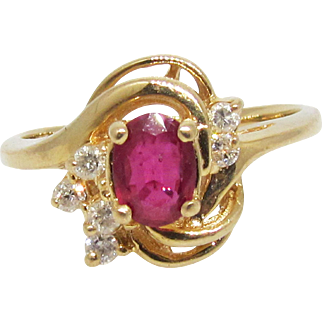 Vintage Ruby and diamond ring.