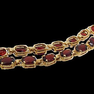 Vintage gold and Garnets tennis bracelet.