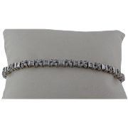 Diamond Bracelet In 14 Karat White Gold