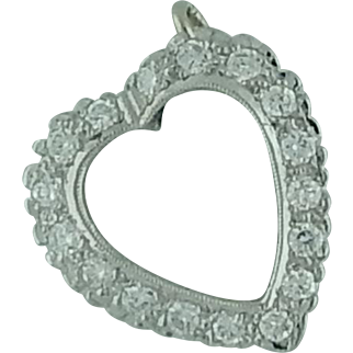 Hanging Diamond Heart Pendant