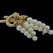 Mikimoto Cultured Pearl Pin