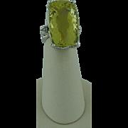 Large Luscious Lemon Quartz Ring