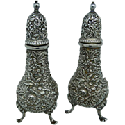 Sterling S. Kirk & Son Repousse Salt and Pepper Set
