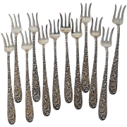S. Kirk & Son Cocktail Fork Set in Sterling Silver