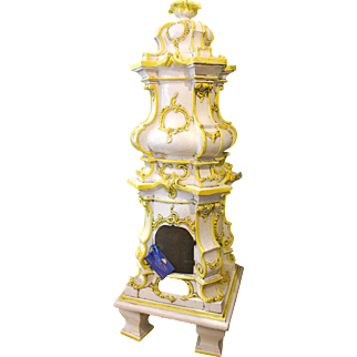 A Large Continental Faience Stove