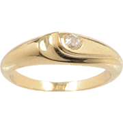 18 KT. Gold and Old Euro Diamond Swirl Ring