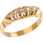18 KT. Yellow Gold and Old Rose Cut Diamond Ring
