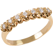 7 Brilliant cut Diamonds and 18 KT. Yellow Gold Ring