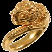 Vintage Zolotas 22 KT. Gold Chimera Ring