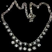 Vintage Art Deco Sterling Silver Rock Crystal necklace