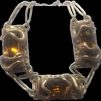 ANTIQUE Victorian Snake link bracelet