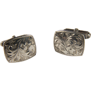 Vintage Japanese 950 Sterling silver cufflinks