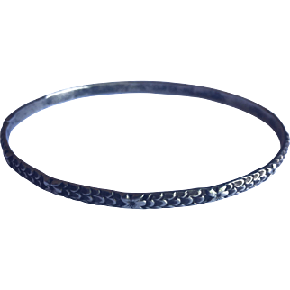 Antique Victorian Sterling Silver bangle