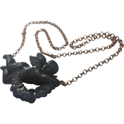 Gutta Percha Angel 9 carat Gold Chain: Rare Mourning Piece